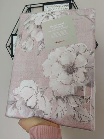 Nowy komplet pościel HOME&YOU 160x200 różowa pościel, kwiaty, poszewki