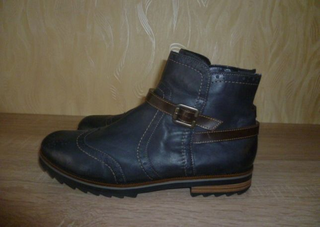 Ботинки полностью из натуральной кожи, цвет мокрый асфальт!