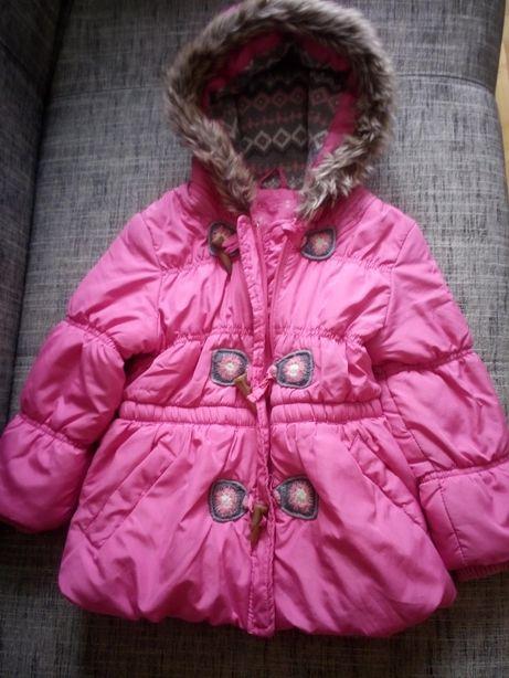 Różowa kurtka z kapturem r 104 3 lata H&M Reserved