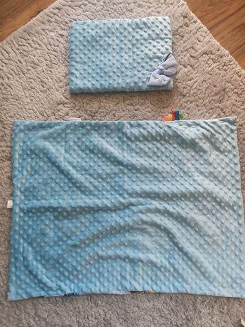 Nowy Kocyk/kołderka + poduszka. Minky