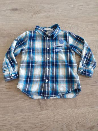 Koszula bawełniana chłopięca rozm 104, h&m