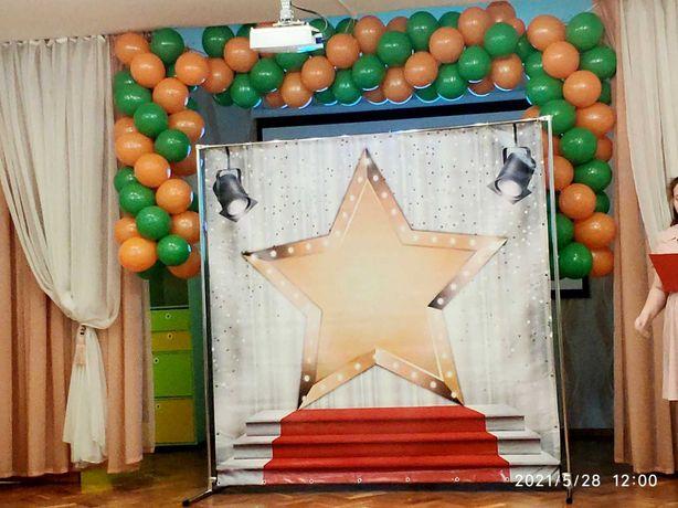 гирлянда из шариков для детского праздника и открытий. шарики с гелием