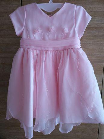Śliczna sukienka dla dziewczynki 12msc