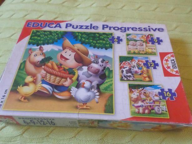 """Conjunto de 4 Puzzle progressivos """"A quinta"""""""