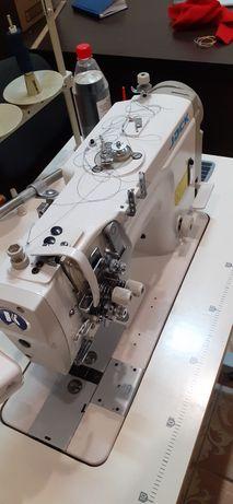 Двух игольная швейная машина с отключением игл)