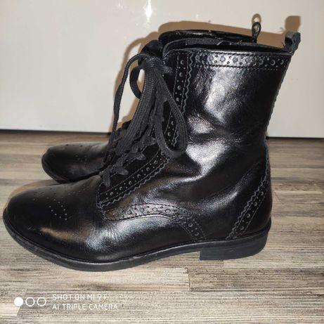 Skórzane buty Zara, r.34