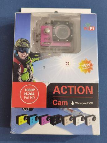 Kamera sportowa PRESONIX full HD wifi karta 64gb microSD