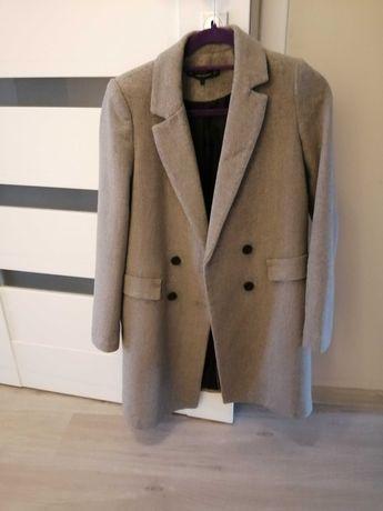 Płaszcz zimowy Zara wełniany r XS