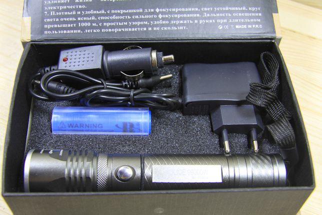Тактический фонарик POLICE BL-7030-2 2 диода 99000W