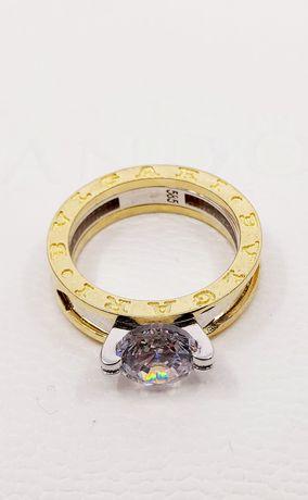 Złoty pierścionek próba 585 Rozmiar 14 waga 6 gr