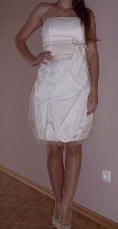 piękna beżowa sukienka