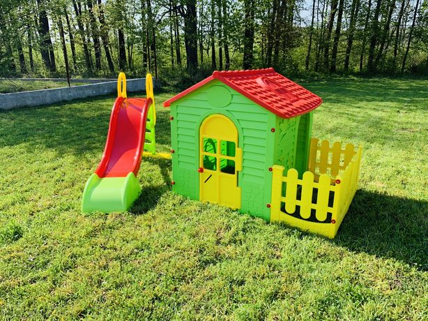 Дитячий ігровий набір/Детский домик+тераса+горка180см/Дитячі майданчик