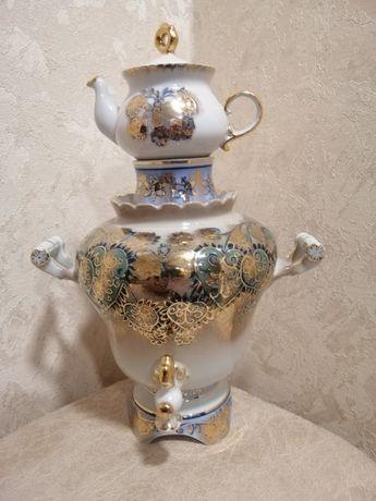 Самовар с чайником