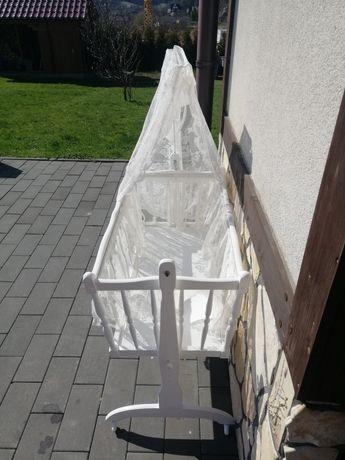 Kołyska drewniana biała
