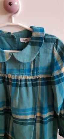 Vestido xadrez azul Knot - 4 anos