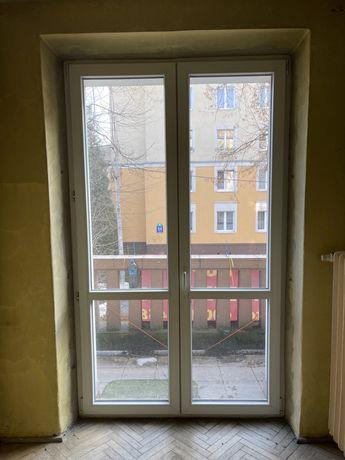 Okno, drzwi balkonowe pcv dwuskrzydlowe 1460x2440