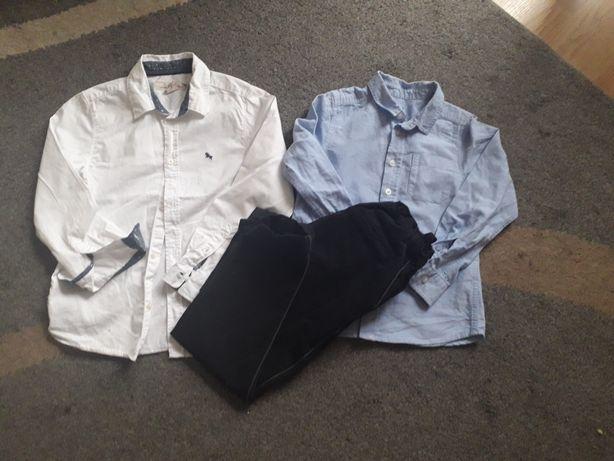 Zestaw koszula,spodnie hm,zara rozm.128