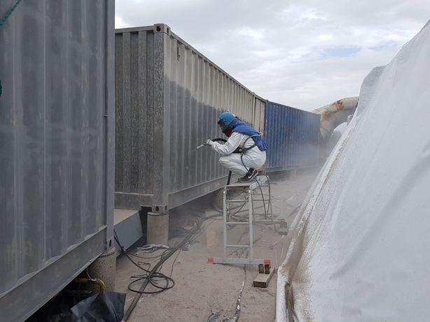 Oczyszczanie SUCHYM LODEM piaskowanie SODOWANIE stali drewna maszyn