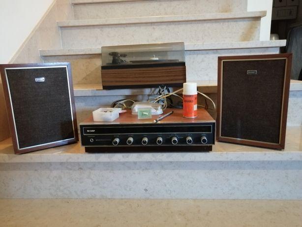 Gira discos com amplificador