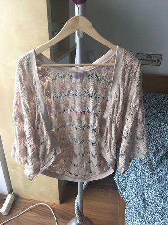 Ażurowy sweterek narzutka wdzianko