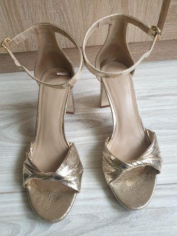 Sandałki złote H&M rozm. 38