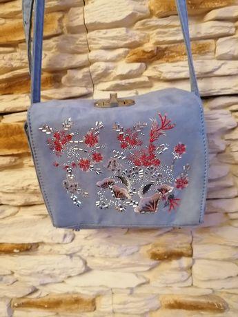 RESERVED #urocza torebka w cudnym wzorze i kolorze za 20zl