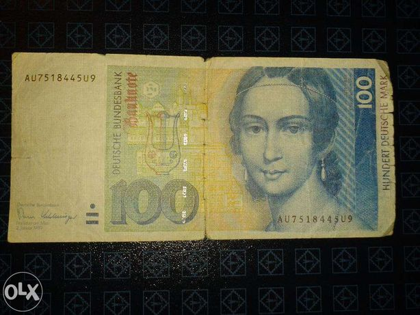 Банкнота/бона Германия 100 Дойчемарок 1989 год