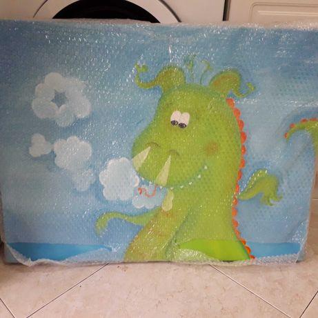Tela infantil pintada a óleo 60x80 -Nova (embalada em plástico bolha)