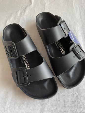 Sandálias Birkenstock pele tamanho 39 unissexo
