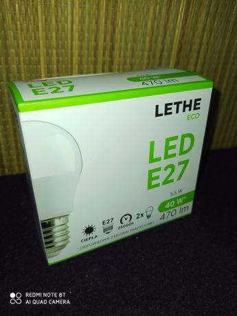 Żarówki LED E27 barwa ciepła 2szt