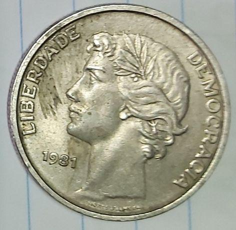 Moeda de25 escudos de 1981 Liberdade Democracia