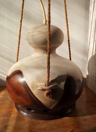 Lampa ceramiczna wisząca typu Fat Lawa