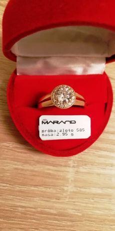 Złoty pierścionek roz 22 nowy