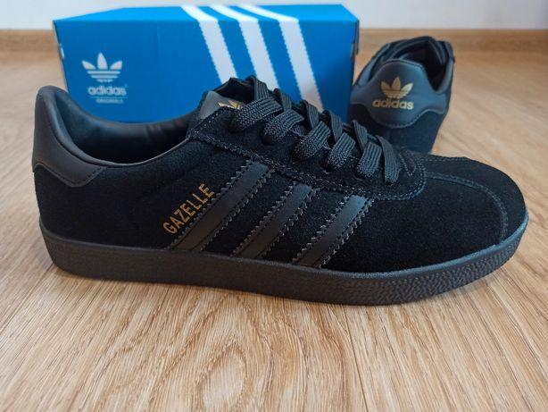 Adidas Gazelle Black полностью черные мужские кроссовки 41 42 43 44