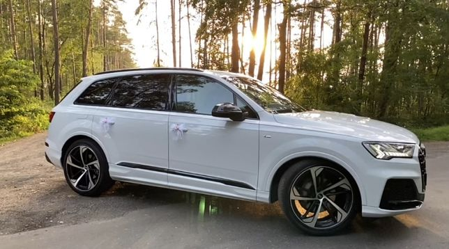 Audi Q7 S-line 2021r. AUTO DO ŚLUBU