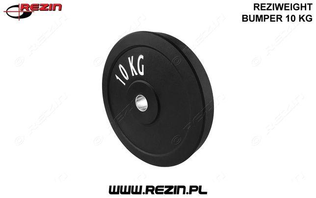 Obciążenie *10KG* olimpijskie gumowe REZIWEIGHT bumper - 10KG - REZIN