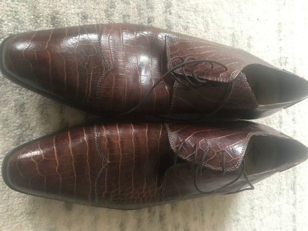 Eleganckie pantofle męskie skórzane