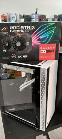 PC Gamer i5 1040F MB B460 Plus 16Gb RGB + STRIX RX570 8GB