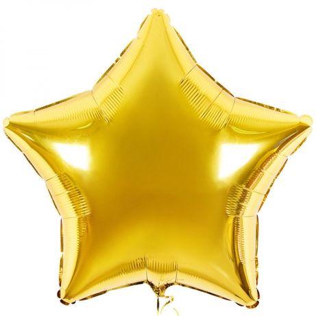 Шар фольга звезда золото (для надувания гелием)