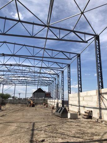 Ангар, склад, цех 24*66 висота 8 м. Металоконструкції , ферми, колони.