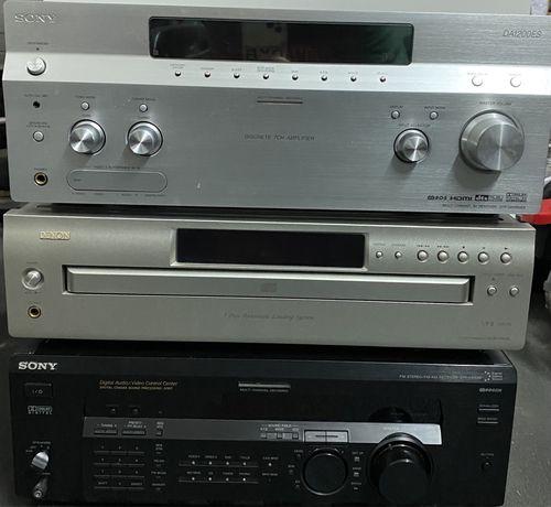 Sony STR - DA 1200 ES + Sony STR - DE 635 + Denon DCM - 500AE