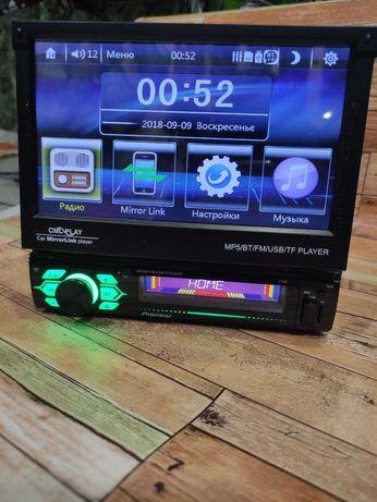 "Aвтомагнитола PIONER 1 Din Виезной екран7""дюйм! FullHD! Gps навигатор!"