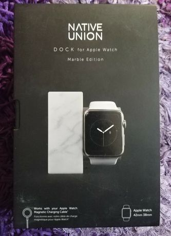 Magnet Charging Dock Apple Watch White Marble Edition (Luxury Tech)
