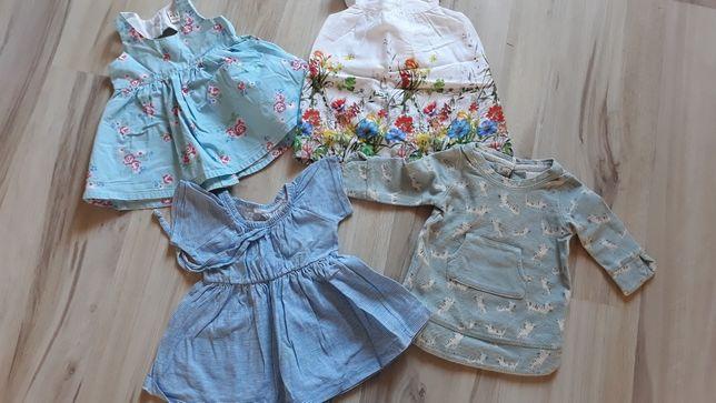 Paka lato zara 68 sukienki tshirty