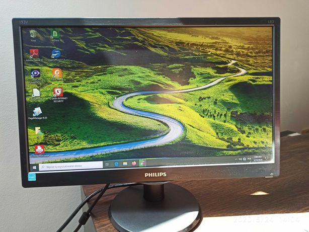 Komputer ACER Aspire zestaw komplet nauka/praca zdalna monitorPhilips