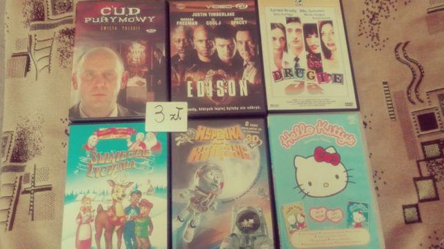 Różne płyty, filmy oraz bajki dla dzieci po 3zł dvd tanio
