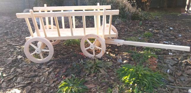 Wóz drewniany drabiniasty do ogrodu