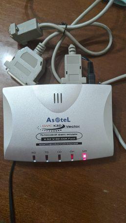 Голосовой факс-модем внешний голосовой Asotel GVC K3D Vector PT-3120