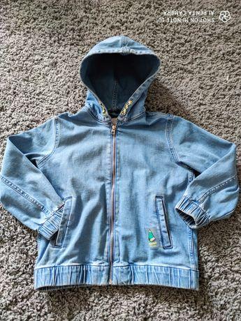 Kurtka dziewczęca jeansowa Zara 128/134 jak nowa