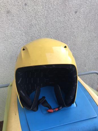 Kask narciarski dla dziecka z goglami 2szt.